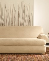 Sure Fit Stretch Faux Leather Separate Seat T-Cushion Sofa Slipcover