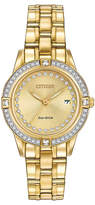 Citizen Gold Silhouette Bracelet Watch With Swarovski® Crystals