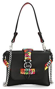 Christian Louboutin Women's Small Rubylou Braided Leather Crossbody Bag