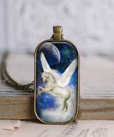 Designs By Karamarie Designs by KaraMarie Women's Necklaces - Blue & Bronzetone Glass Magical Unicorn Pendant Necklace