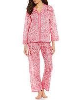 Oscar de la Renta Paisley Lawn Pajamas