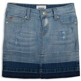 Hudson Girls' Two Tone Distressed Denim Skirt - Sizes 7-16