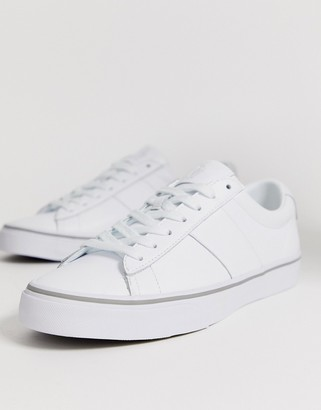 Polo Ralph Lauren sayer leather sneaker polo player logo in white