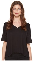 Heather V-Neck Boxy Tee Women's T Shirt