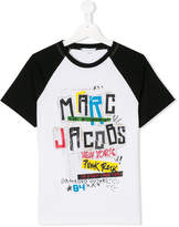 Little Marc Jacobs punk logo print T-shirt