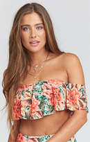 MUMU Bondi Ruffle Bikini Top ~ Johnny and the Band
