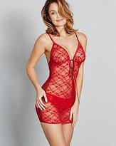 Pretty Secrets Sasha Tassel Tie Red Lace Dress