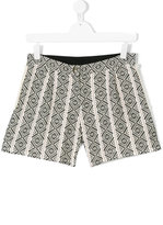 Chloé Kids teen geometric embroidered shorts