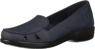 Easy Street Shoes Women's Julie Comfort Slip on Casual Ballet Flat Navy 6 2W US