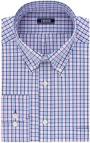 Izod Men's Regular Fit Tattersall Buttondown Collar Dress Shirt