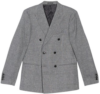 Reiss Ruck Peak Collar Double Breasted Button Jacket