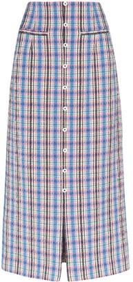 Rosie Assoulin Plaid Pencil Skirt