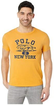 Polo Ralph Lauren Slim Fit Graphic T-Shirt (Gold Bugle) Men's Clothing