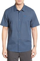 Travis Mathew Men's Stripe Cotton Jersey Sport Shirt