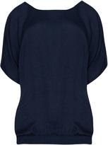 Zizzi Plus Size Beaded neckline smocked hem top