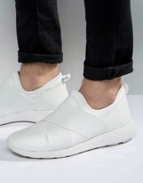Asos Sneakers in White With Elastic and Rubber Detail