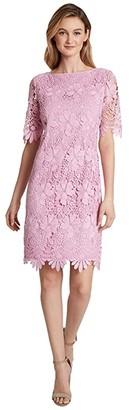 Tahari ASL Petite Elbow Length Sleeve Sheath (Pink Gelato) Women's Dress