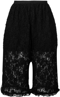MM6 MAISON MARGIELA floral lace shorts