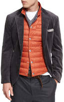 Brunello Cucinelli Corduroy Sport Jacket, Dark Gray