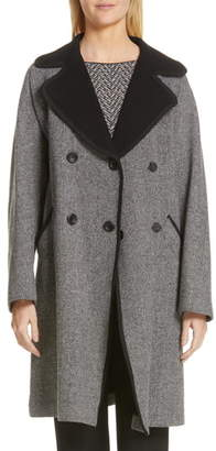 Emporio Armani Belted Herringbone Trench Coat