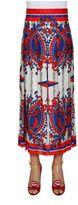 Gucci Carillon Print Jacquard Pleated Skirt