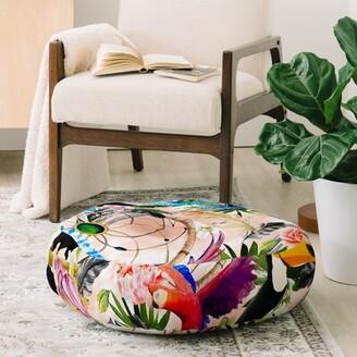 East Urban Home Marta Barragan Camarasa Tropical Boho Floor Pillow