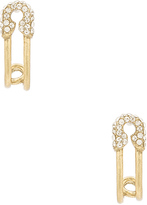 Marc Jacobs Strass Safety Pin Ear Hoop