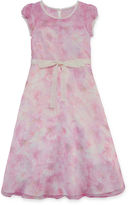 LAVENDER BY US ANGELS Lavender By Us Angels Flower Girl Dresses Short Sleeve Party Dress