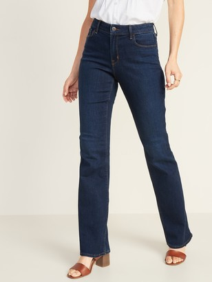 Old Navy Mid-Rise Dark-Wash Micro-Flare Jeans for Women