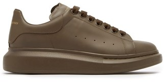 Alexander McQueen Raised-sole Low-top Leather Trainers - Khaki