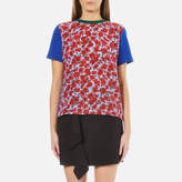 MSGM Women's Rose Printed TShirt - Blue