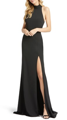 Mac Duggal Cutout Back Jersey Gown