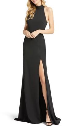 Mac Duggal Cutout Back Jersey Gown