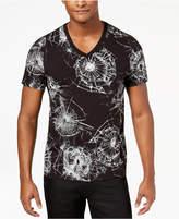 GUESS Men's Shot Glass Graphic-Print V-Neck T-Shirt