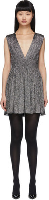Saint Laurent Silver Lurex Short Dress