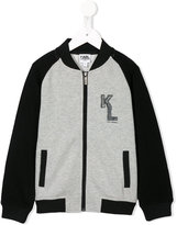 Karl Lagerfeld chest print bomber jacket
