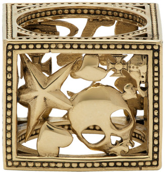 Vivienne Westwood Gold Square Aaron Ring