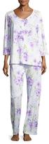 Midnight by Carole Hochman Long Cotton Floral Pajama Set