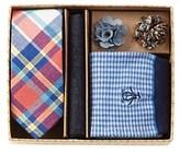 Original Penguin Mens' Tie, Pocket Square, Socks, & Lapel Pins Set.
