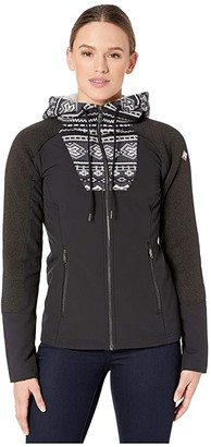 Spyder Soiree Hybrid Hoodie Fleece (White) Women's Coat