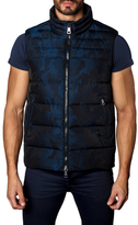 Jared Lang Stand Collared Camo Puffer Vest