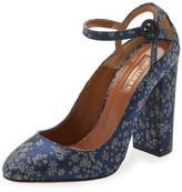 Aquazzura Sweet Thing Printed 105mm Pump, Ink