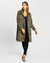 Thumbnail for your product : Atmos & Here Atmos&Here - Women's Brown Winter Coats - Lorena Wool Blend Animal Coat - Size 8 at The Iconic