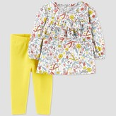 Carter's Just One You Made By Baby Girls' Floral Tunic Top & Bottom Set - Just One You® made by Newborn