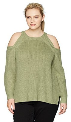 Rebel Wilson X Angels Women's Plus Size Cold Shoulder Sweater