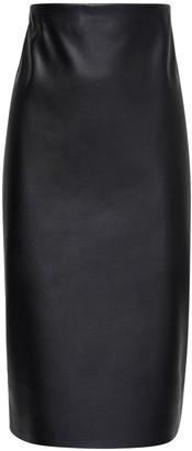Max Mara 'S High Waist Faux Leather Pencil Skirt