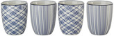 Pols Potten Assorted Check & Stripe Cups - Set of 4