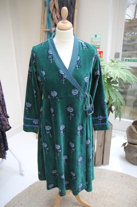 Zen Ethic - Velour Emerald Nelina Dress - medium | velvet