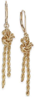 Charter Club Gold-Tone Knotted Rope Chain Drop Earrings
