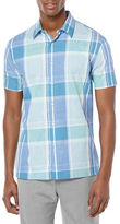 Perry Ellis Plaid Cotton Sportshirt